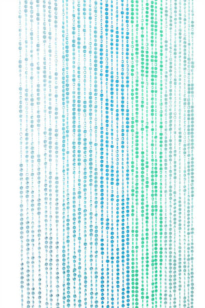Diamond Cut Beaded Curtain -- Green & Blue