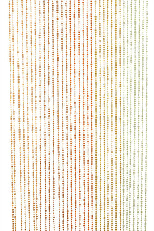 Earth Tones Diamond Cut Beaded Curtain -- Yellow, Orange