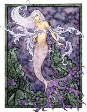 Amy Brown Pearl Mermaid Greeting Card