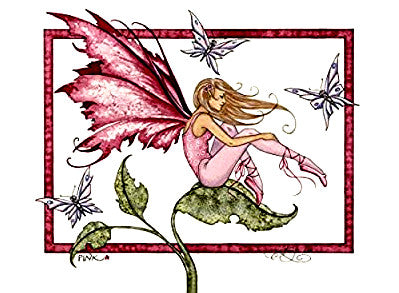 Amy Brown Pink Fairy Postcard