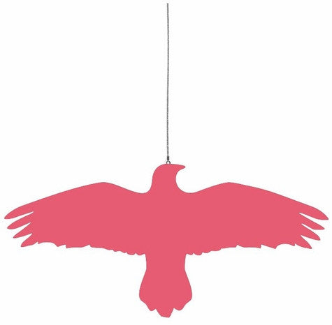 Hanna Bjarnadottir Raven Bird on a Wire Hanger -- Pink