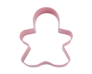 12 Pink Gingerbread Girl Cookie Cutters