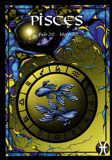 Astrology Pisces Greeting Card