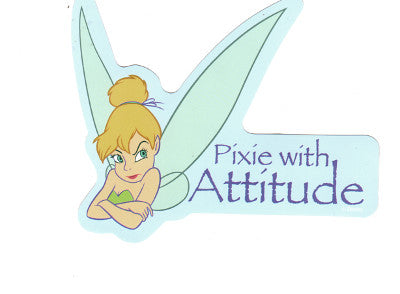 Disney Tinkerbell Fairy Pixie with Attitude Sticker Decal
