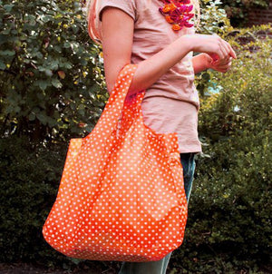 Orange Polka Dot Market Bag