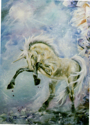 Patrick Gamble Prancing Unicorn Greeting Card