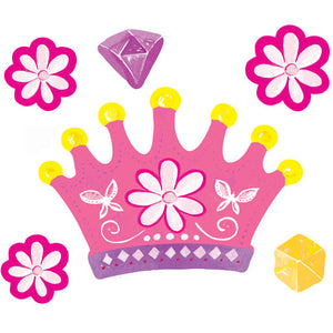 Wallies Peel and Stick Princess Dreams + Crowns Vinyl Decals
