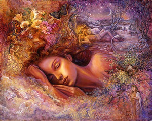 Josephine Wall Psyches Dream Love Greeting Card with Gold Foil Accents