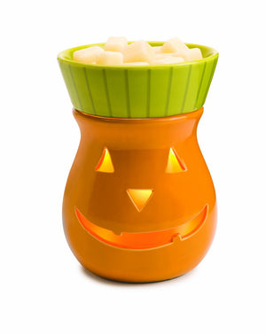 Large Jack O Lantern Pumpkin Tart & Fragrance Oil Warmer