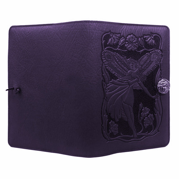 Purple Fairy Leather Journal Cover by Oberon Design