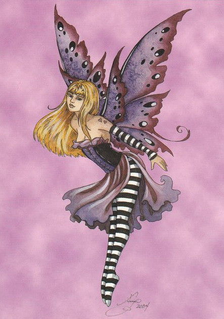 Amy Brown Purple Fairy Postcard