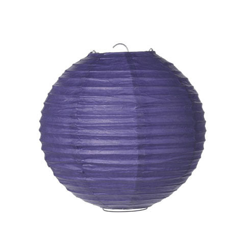 Purple 8 Inch Round Paper Lantern -- Set of 10