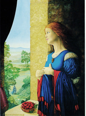 Linda Garland Camelot Queen Guinevere Greeting Card