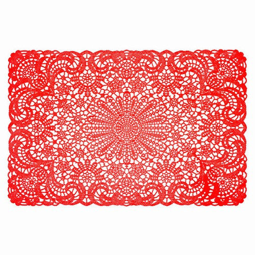 Red Vinyl Lace Placemat That Bohemian Girl
