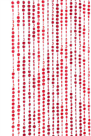 6' Red & Burgundy Diamond Cut Beaded Curtain