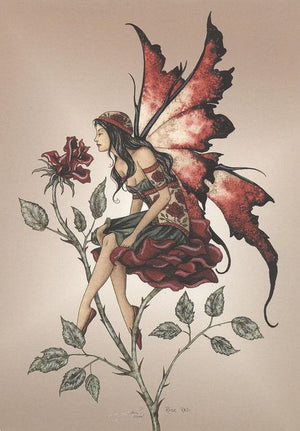 Amy Brown Red Rose Fairy Postcard