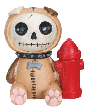 Furrybones Rocky Dog with Fire Hydrant Figurine