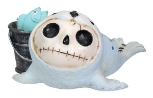 Furrybones Rollie Seal with Fish in a Pail Figurine