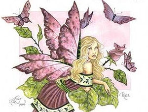 Amy Brown Rose Fairy Postcard