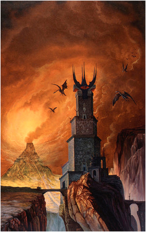 Roger Garland Sauron Defeated Tolkien Greeting Card