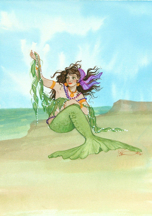 Karen Bagnard Sea Gypsy Mermaid Greeting Card