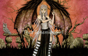 Amy Brown Gothic Shade Note Card