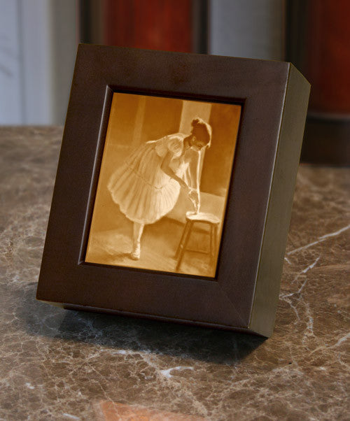 Ballerina Porcelain Lithophane Shadow Box -- Dress Rehearsal