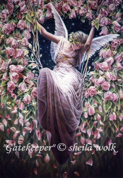 Sheila Wolk Gatekeeper Fairy Cross Stitch Pattern Chart