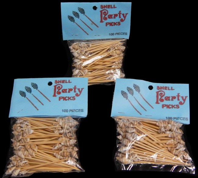 100 Real Seashell Party Appetizer Toothpicks