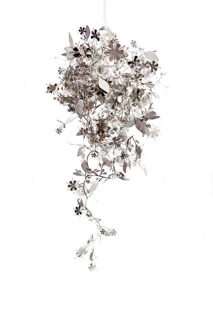 Silver Plated Floral Garland Lamp by Tord Boontje