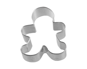 10 Silver Gingerbread Boy Cookie Cutters