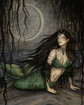 Jessica Galbreth Siren Mermaid Ceramic Tile Art