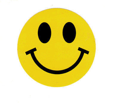 Yellow Smiley Happy Face Sticker Decal