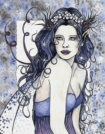 Jessica Galbreth Snow Queen Limited Edition Signed Print -- 11 x 14