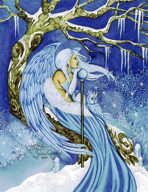 Amy Brown Snow Queen Fairy Print -- Limited Edition