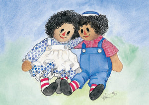 Karen Bagnard Special Friends Raggedy Ann + Andy Greeting Card