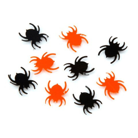Halloween Black + Orange Spider Confetti