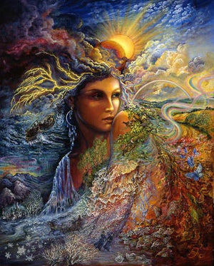 Josephine Wall Spirit of the Elements Birthday Greeting Card