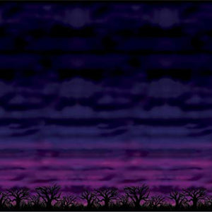 30' Large Halloween Spooky Sky Wall Mural Backdrop