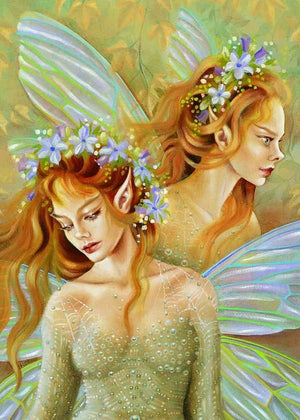 Maxine Gadd Spring Fairy Fairies Greeting Card