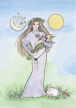 Karen Bagnard Spring Equinox Celtic Greeting Card