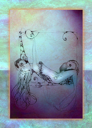 Ragen Mendenhall Star Mermaid Signed Print