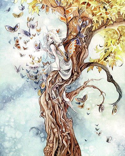 Stephanie Law Moth Queen II Print