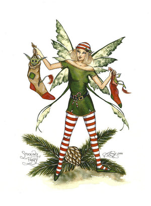 Amy Brown Christmas Stocking Faery Print