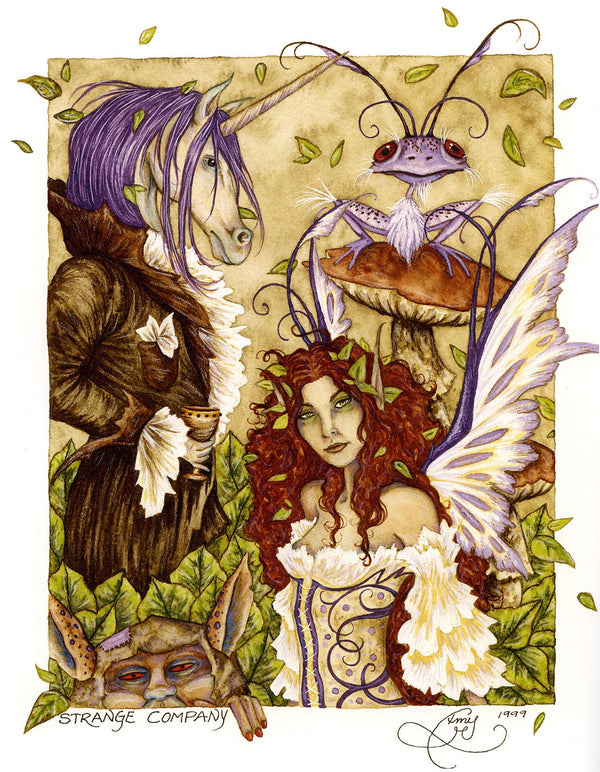 Amy Brown Strange Company Fairy Print