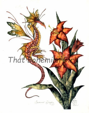 Amy Brown Summer Dragon Print