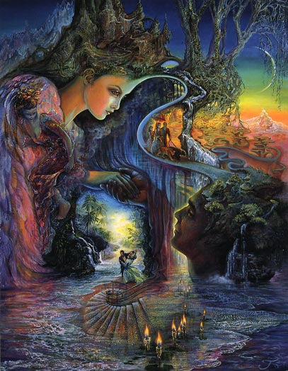 Josephine Wall Sweet Synergy Love Greeting Card