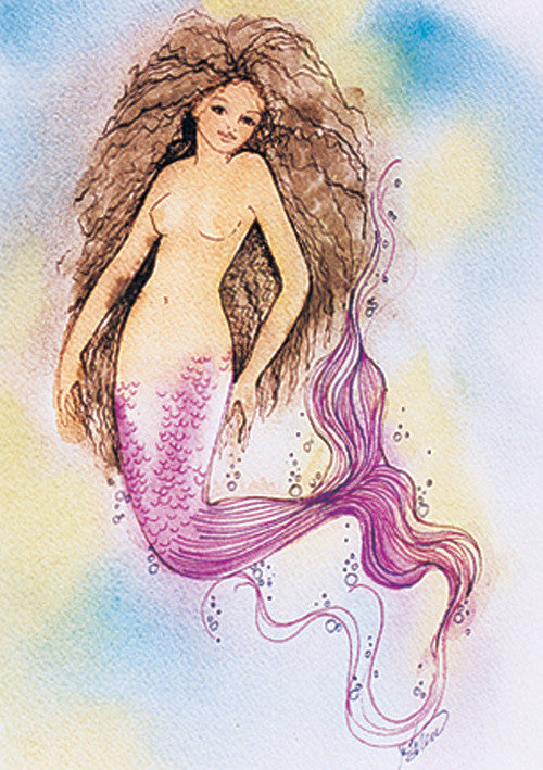 Karen Bagnard Tahiti Mermaid Greeting Card