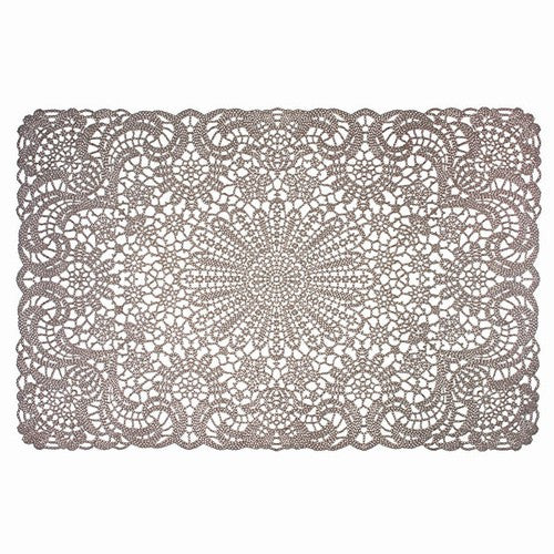 Taupe Vinyl Lace Placemat