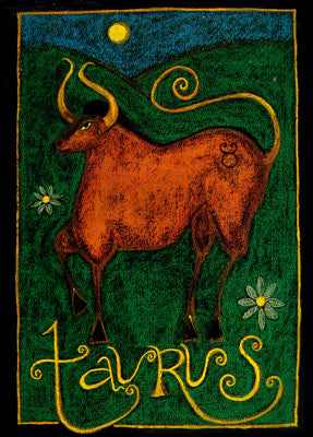 Astrology Taurus Note Card